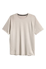 Short-sleeved mesh running top - Beige - Men | H&M 2