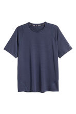 Short-sleeved mesh running top - Dark blue - Men | H&M CN 2