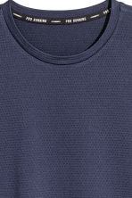 Short-sleeved mesh running top - Dark blue - Men | H&M CN 3
