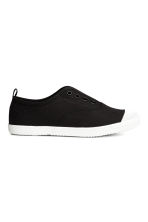 Canvas trainers - Black - Kids | H&M 1