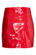 Patent skirt - Red - Ladies | H&M 3
