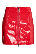 Patent skirt - Red - Ladies | H&M 2