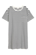 T-shirt dress - White/Striped - Ladies | H&M CN 2