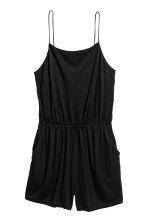 Jersey playsuit - Black - Ladies | H&M CN 2
