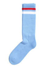 Terry socks - Light blue - Men | H&M 1