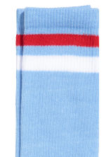 Terry socks - Light blue - Men | H&M CN 2