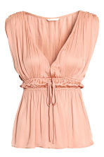V-neck satin top - Powder pink - Ladies | H&M CA 2