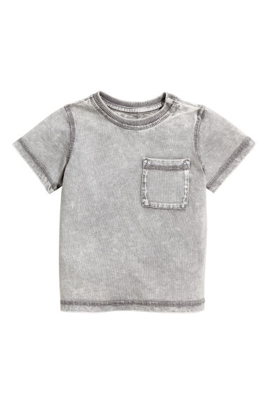 T-shirt - Grey washed out - Kids | H&M CN 1