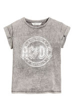 Top in jersey con stampa - Grigio/AC/DC -  | H&M IT 2