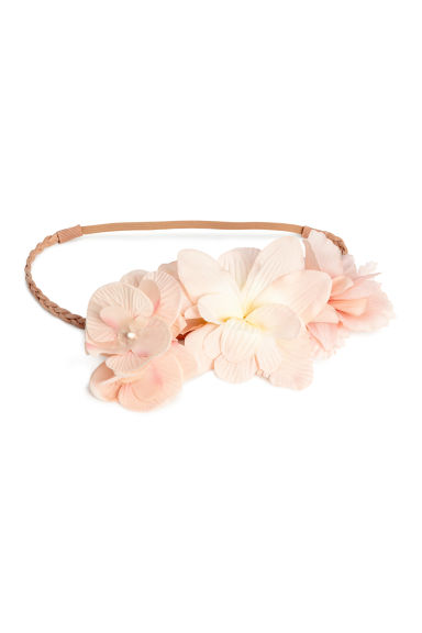 Hairband with flowers - Light beige - Ladies | H&M 1