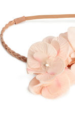 Hairband with flowers - Light beige - Ladies | H&M 2