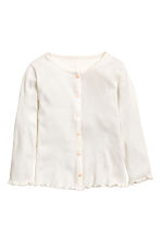 Ribbed jersey cardigan - White - Kids | H&M 2