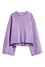 Wide sweatshirt - Purple - Ladies | H&M CN 2