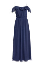 Long chiffon dress - Dark blue -  | H&M 2