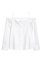 Off-the-shoulder blouse - White - Ladies | H&M CN 2
