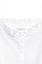 Off-the-shoulder blouse - White -  | H&M 3