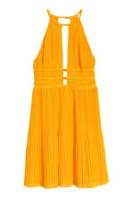 Pleated halterneck dress - Orange - Ladies | H&M CN 2
