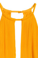 Pleated halterneck dress - Orange - Ladies | H&M CN 3