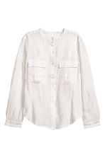 Linen shirt - Natural white - Ladies | H&M CN 2