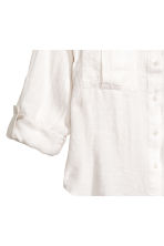 Linen shirt - Natural white - Ladies | H&M CN 3