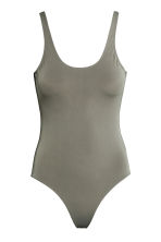 Swimsuit High leg - Khaki green - Ladies | H&M CN 2