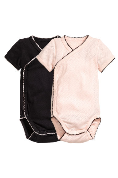 2-pack pointelle bodysuits - Powder pink - Kids | H&M 1