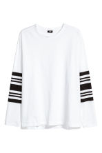 Long-sleeved T-shirt - White - Men | H&M 1