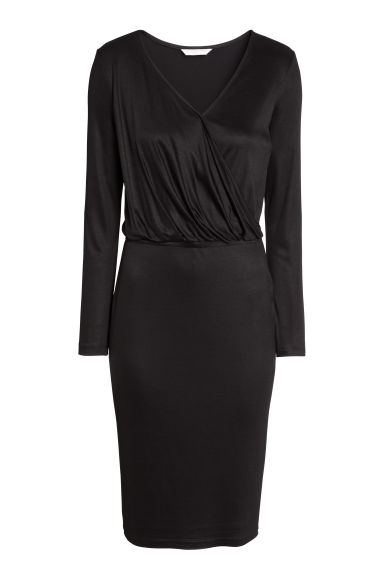 Abito incrociato - Nero - DONNA | H&M IT