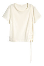 Pima cotton top - Natural white - Ladies | H&M CN 2