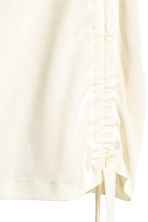 Pima cotton top - Natural white - Ladies | H&M CN 3