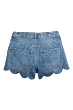 Denim scallop-hem shorts - Denim blue -  | H&M GB 3