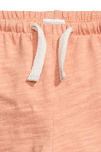 Slub cotton jersey trousers - Apricot - Kids | H&M 2