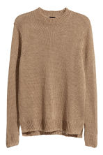 Knitted linen jumper - Dark beige - Men | H&M CN 2