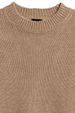 Knitted linen jumper - Dark beige - Men | H&M CN 3
