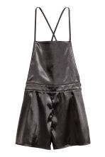 Satin dungaree shorts - Black - Ladies | H&M 2