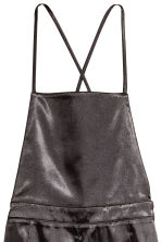 Satin dungaree shorts - Black - Ladies | H&M CN 3