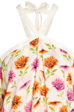 Off-the-shouldertop - Gebroken wit/bloemen - DAMES | H&M BE 4