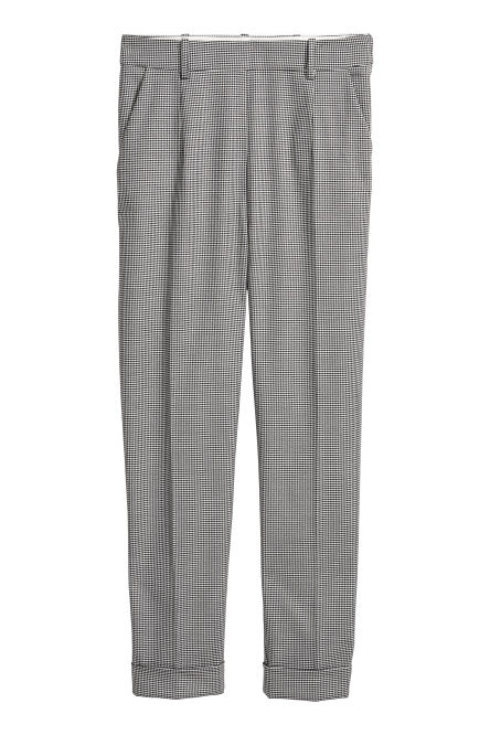 Dogtooth check suit trousers