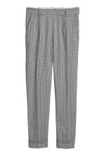 Dogtooth check suit trousers - Light grey/Black - Ladies | H&M CN 2
