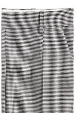 Dogtooth check suit trousers - Light grey/Black - Ladies | H&M CN 3
