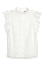 Lace blouse - White - Ladies | H&M CN 2