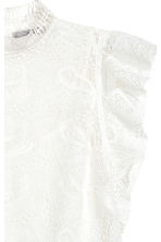 Lace blouse - White - Ladies | H&M CN 3