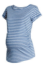 MAMA Jersey top - Dark blue/Striped -  | H&M 2