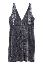 Crushed velvet dress - Dark grey - Ladies | H&M 2