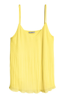 Pleated chiffon strappy top