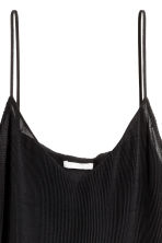 Pleated chiffon strappy top - Black - Ladies | H&M CN 3