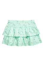 Jersey skirt - Mint green/Butterflies - Kids | H&M CA 2