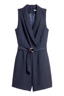 Shawl collar playsuit
