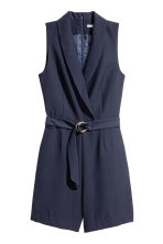 Shawl collar playsuit - Dark blue - Ladies | H&M CN 2
