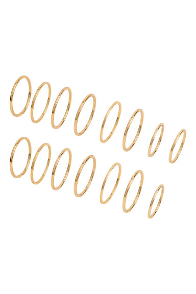 15-pack rings - Gold - Ladies | H&M CN